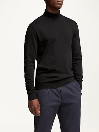 Kin Knitted Roll Neck, Black