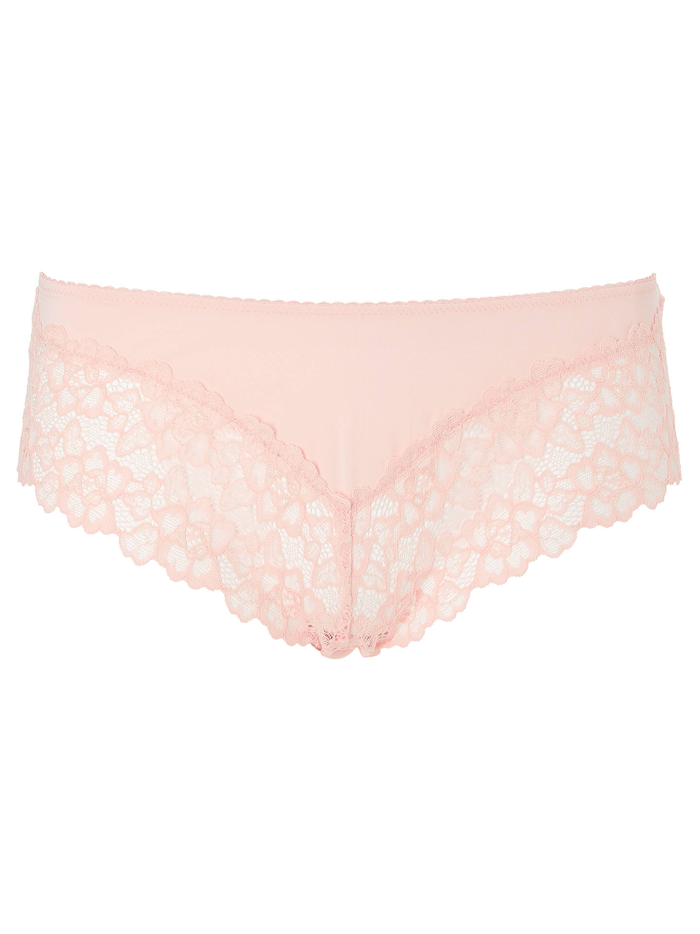 BuyAND/OR Lace Detail Brazilian Shortie, Peach, 8 Online at johnlewis.com