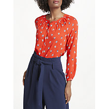 Buy Boden Paris Blouse, Rosehip/Ballet Slippers Online at johnlewis.com