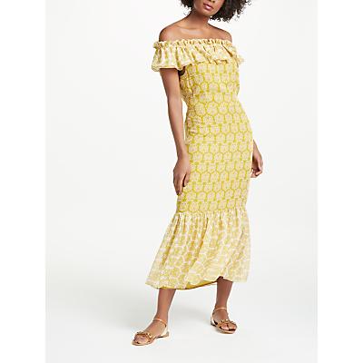 Boden Allegra Midi Dress, Chrysanthemum Geo Pollen