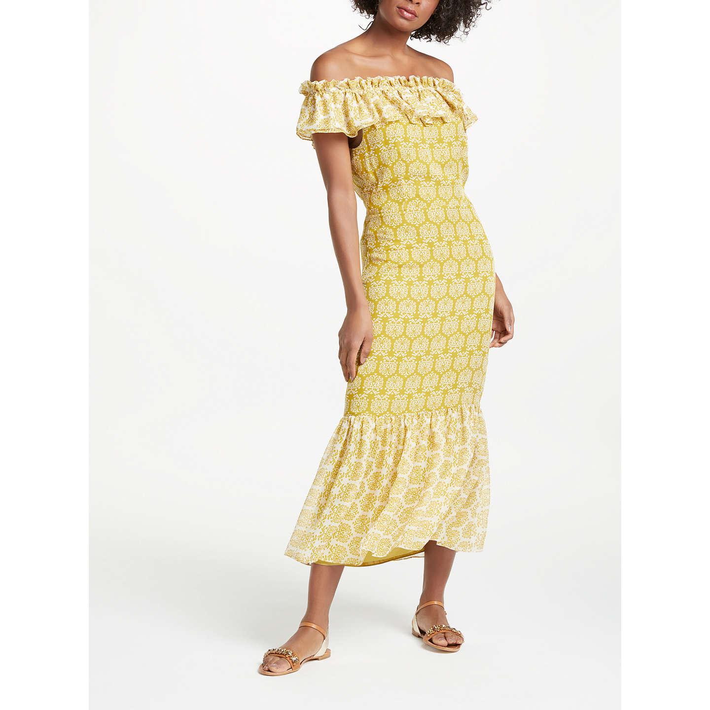 Boden Allegra Midi Dress, Chrysanthemum Geo Pollen by Boden