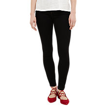 Buy Phase Eight Aida Contrast Stitch Jeans, Black Online at johnlewis.com