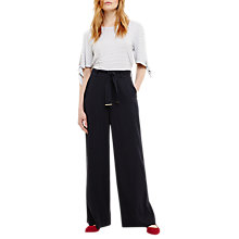 Buy Phase Eight Flo Wide Leg Trousers, Pitch Blue Online at johnlewis.com