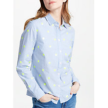 Buy Boden The Classic Shirt, Blue/Ivory Stripe Online at johnlewis.com