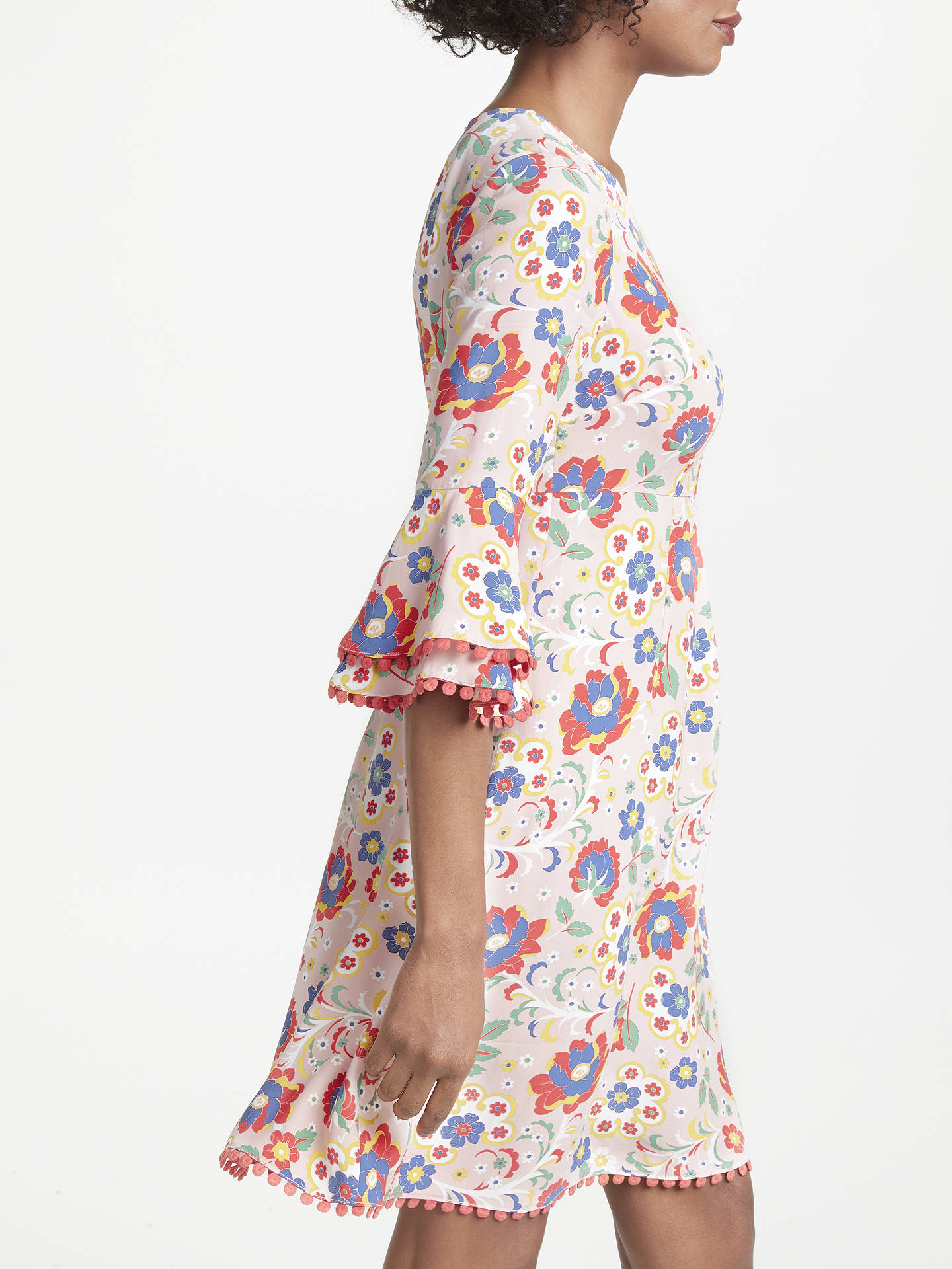 BuyBoden Carmen Ruffle Hem Dress, Multi, 16 Online at johnlewis.com