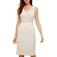Buy Phase Eight Trixi Lace Mix Dress, Cream Oyster Online at johnlewis.com