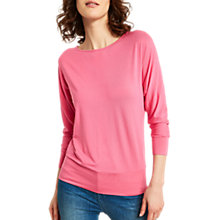 Buy Mint Velvet Cowl Neck Batwing Top, Flamingo Online at johnlewis.com