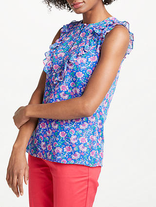 Buy Boden Elise Top, China Blue/Tropical Floral, 8 Online at johnlewis.com