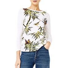 Buy Warehouse Barbican Songbird Woven Front Jumper, Cream Online at johnlewis.com