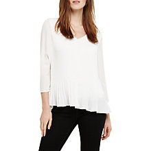 Buy Phase Eight Elle Pleated Blouse Top, Cream Ivory Online at johnlewis.com