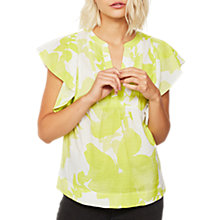 Buy Mint Velvet Chelsea Print Ruffle Sleeve Top, Multi Online at johnlewis.com