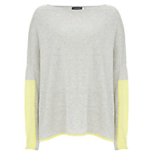 Buy Mint Velvet Blocked Colour Sleeve Cocoon Jumper, Grey Online at johnlewis.com