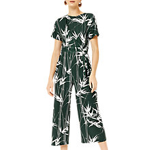 Buy Warehouse Barbican Climbing Bamboo Jumpsuit, Green Online at johnlewis.com