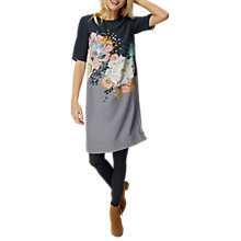 Buy White Stuff Phoebe Flower Dress, Grey Online at johnlewis.com