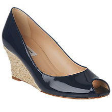 Buy L.K.Bennett Edee Wedge Heel Open Toe Court Shoes Online at johnlewis.com