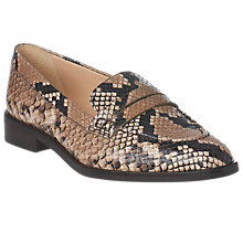 Buy L.K. Bennett Iona Pointed Toe Snake Print Loafers, Multi Online at johnlewis.com