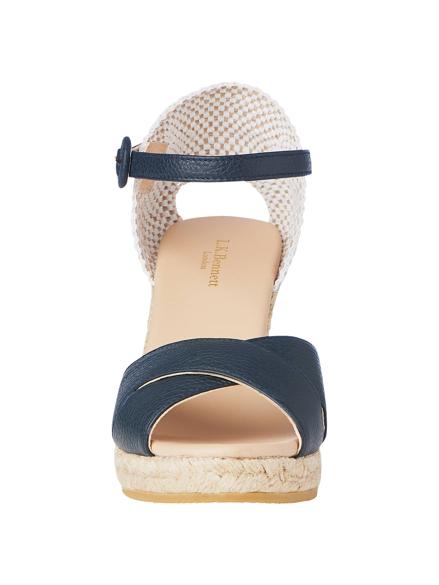 ab8a7577330 L.K.Bennett Angele Wedge Heel Sandals at John Lewis   Partners