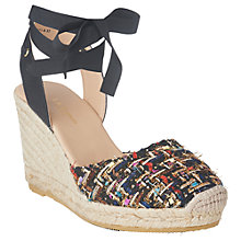 Buy L.K.Bennett Tianna Two Part Wedge Heel Sandals, Black Online at johnlewis.com