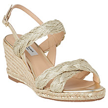Buy L.K.Bennett Roxie Wedge Heel Espadrille Sandals, Soft Gold Online at johnlewis.com
