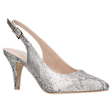 Buy Carvela Kicker Slingback Court Shoes, Gold Online at johnlewis.com