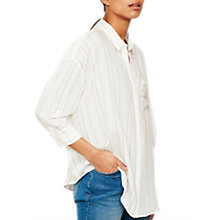 Buy Mint Velvet Stripe Shirt, Ivory Online at johnlewis.com