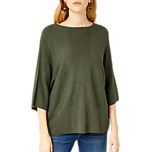 Buy Warehouse Ribbed Panel Knitted Top Online at johnlewis.com