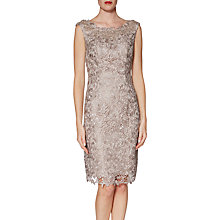 Buy Gina Bacconi Libby Lace Dress and Scarf, Beige Online at johnlewis.com