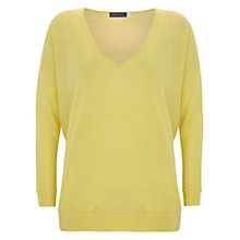 Buy Mint Velvet Raw Seam Detail Jumper, Yellow Online at johnlewis.com