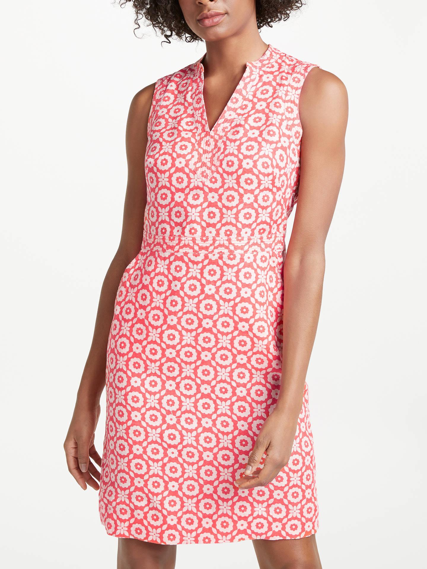 48129153c8 Buy Boden Linen Notch Neck Dress, Rosehip, 8 Online at johnlewis.com ...