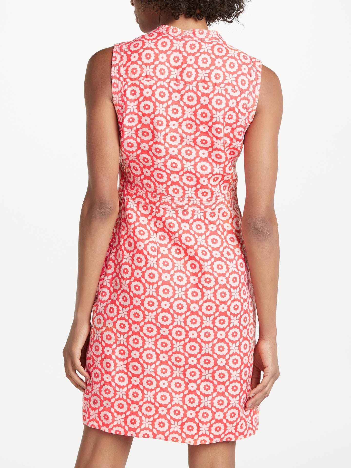 7721665e9d ... Buy Boden Linen Notch Neck Dress, Rosehip, 8 Online at johnlewis.com ...