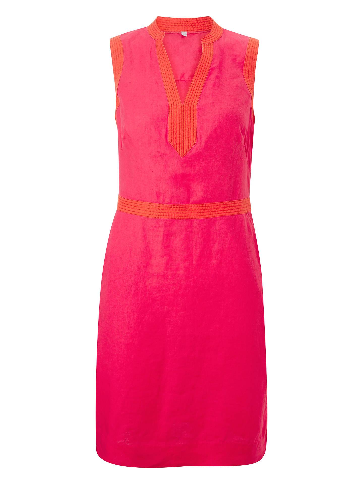 da2b368863 Boden Linen Notch Neck Dress at John Lewis   Partners