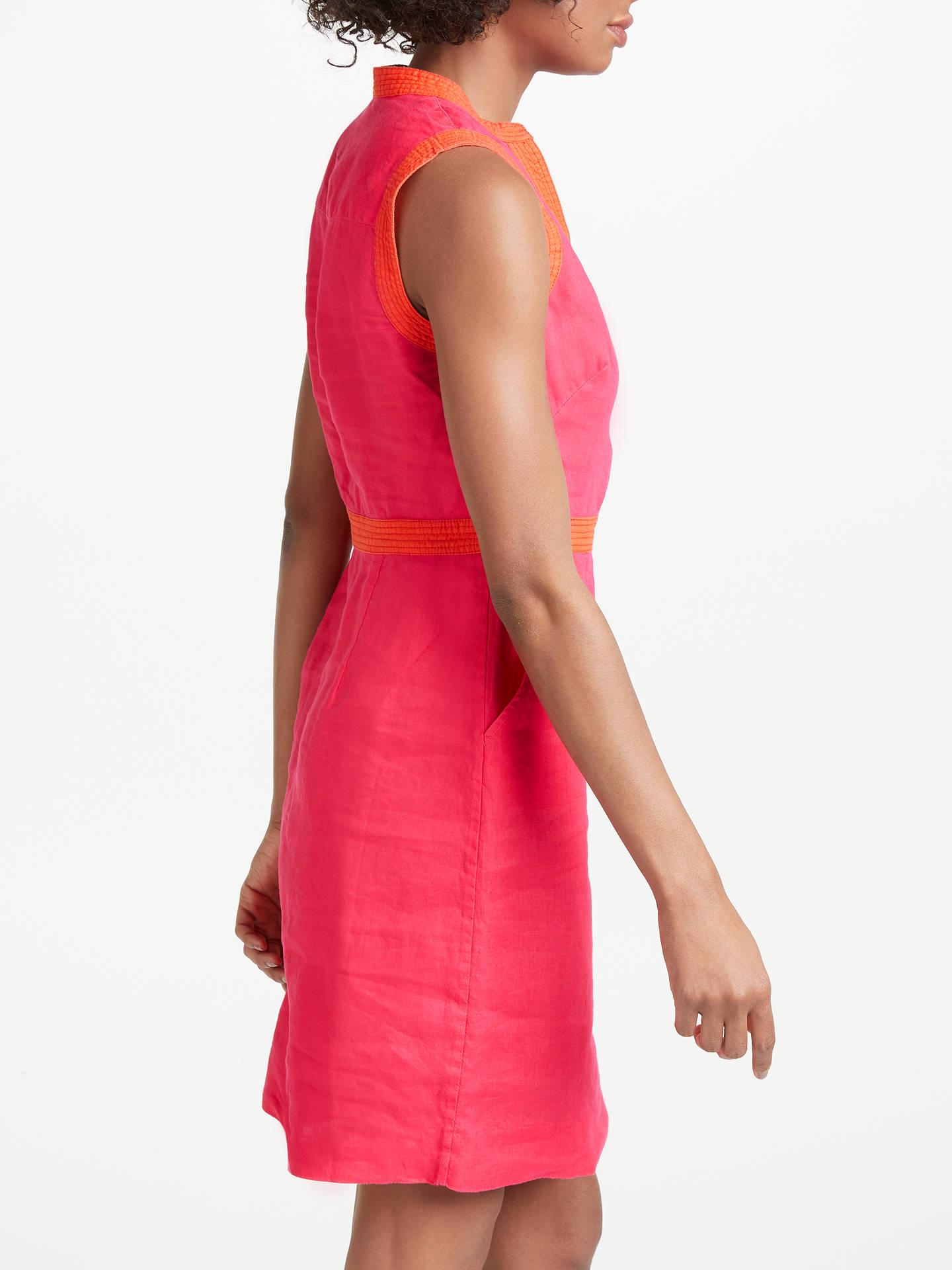 69c8f5cefd1 Boden Linen Notch Neck Dress at John Lewis   Partners