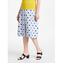 Buy Boden Lola Hazy Spot on Stripe Skirt, Blue Mix Online at johnlewis.com