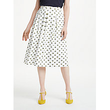 Buy Boden Lola Honey Bee Skirt, Ivory Online at johnlewis.com