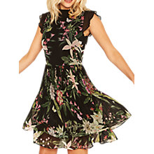 Buy Oasis Secret Garden Pleated Skater Dress, Multi/Black Online at johnlewis.com
