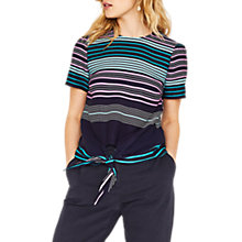 Buy Oasis Stripe Tie Front Top, Multi Online at johnlewis.com