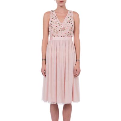 French Connection Palma Sparkle Midi Dress, Lotus Flower