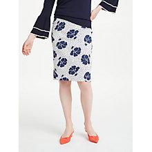 Buy Boden Martha Primrose Skirt, Ivory Online at johnlewis.com