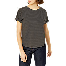 Buy Warehouse Casual Stripe T-Shirt Online at johnlewis.com