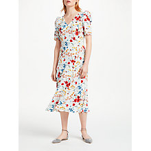 Buy Finery Chancel Wild Flora Ruched Sleeve Dress, Wild Flora Online at johnlewis.com