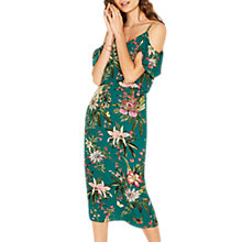 Buy Oasis Secret Garden Midi Dress, Multi/Green Online at johnlewis.com