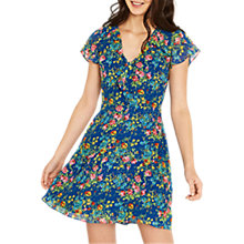 Buy Oasis Painted Posy Tea Dress, Blue/Multi Online at johnlewis.com