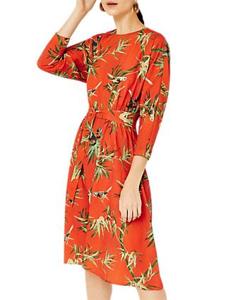 Warehouse Barbican Barbara Print Dress, Multi