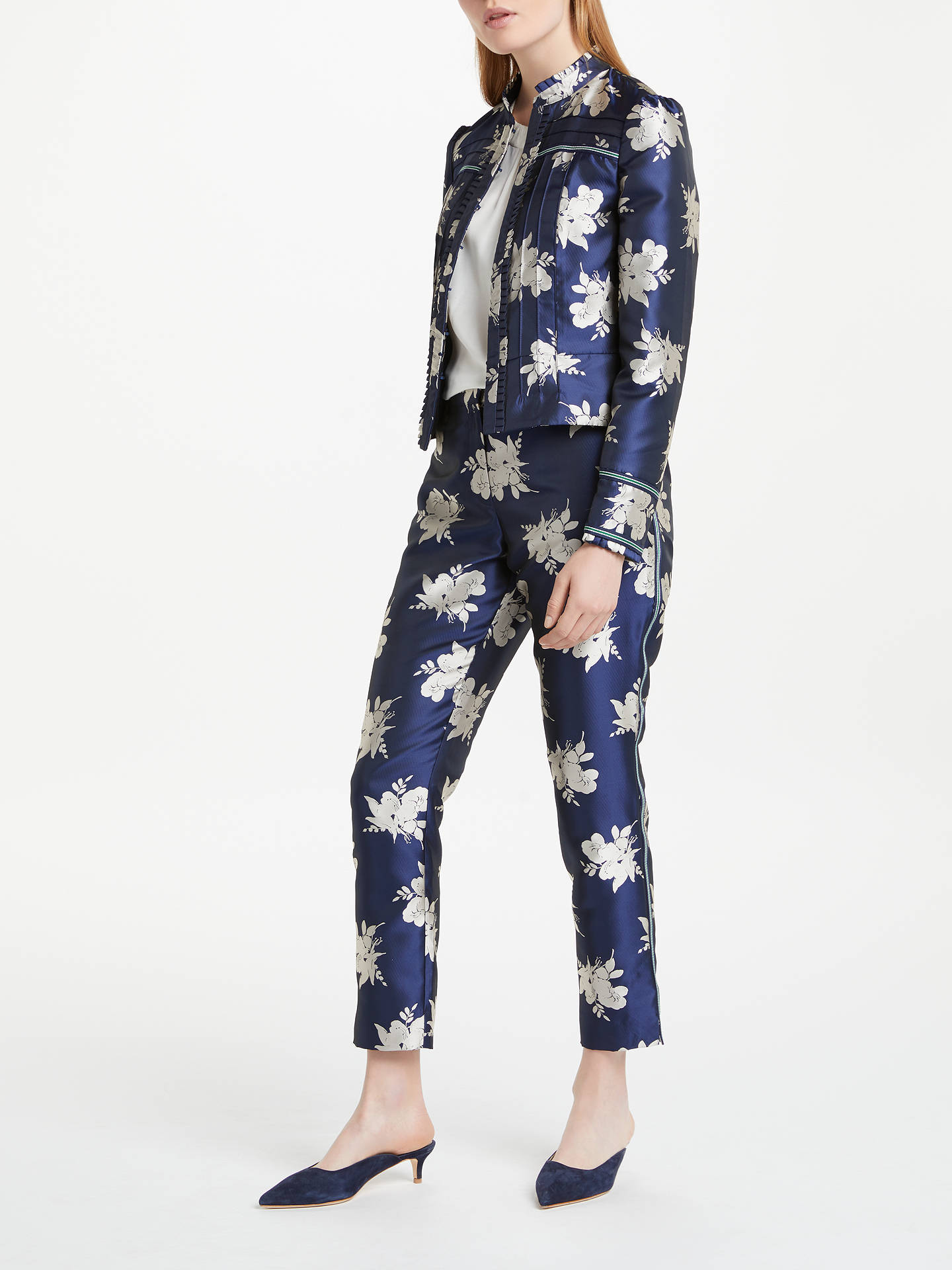 BuyBoden Mariana Jacquard Jacket, Navy Wild Bloom, 8 Online at johnlewis.com
