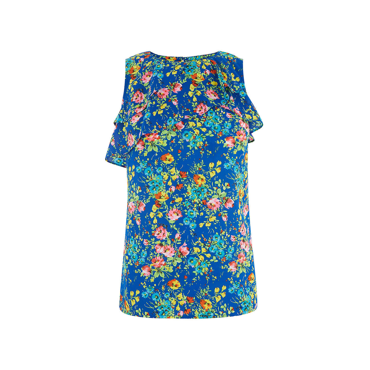 BuyOasis Painted Posy Shell Top, Multi/Blue, 8 Online at johnlewis.com