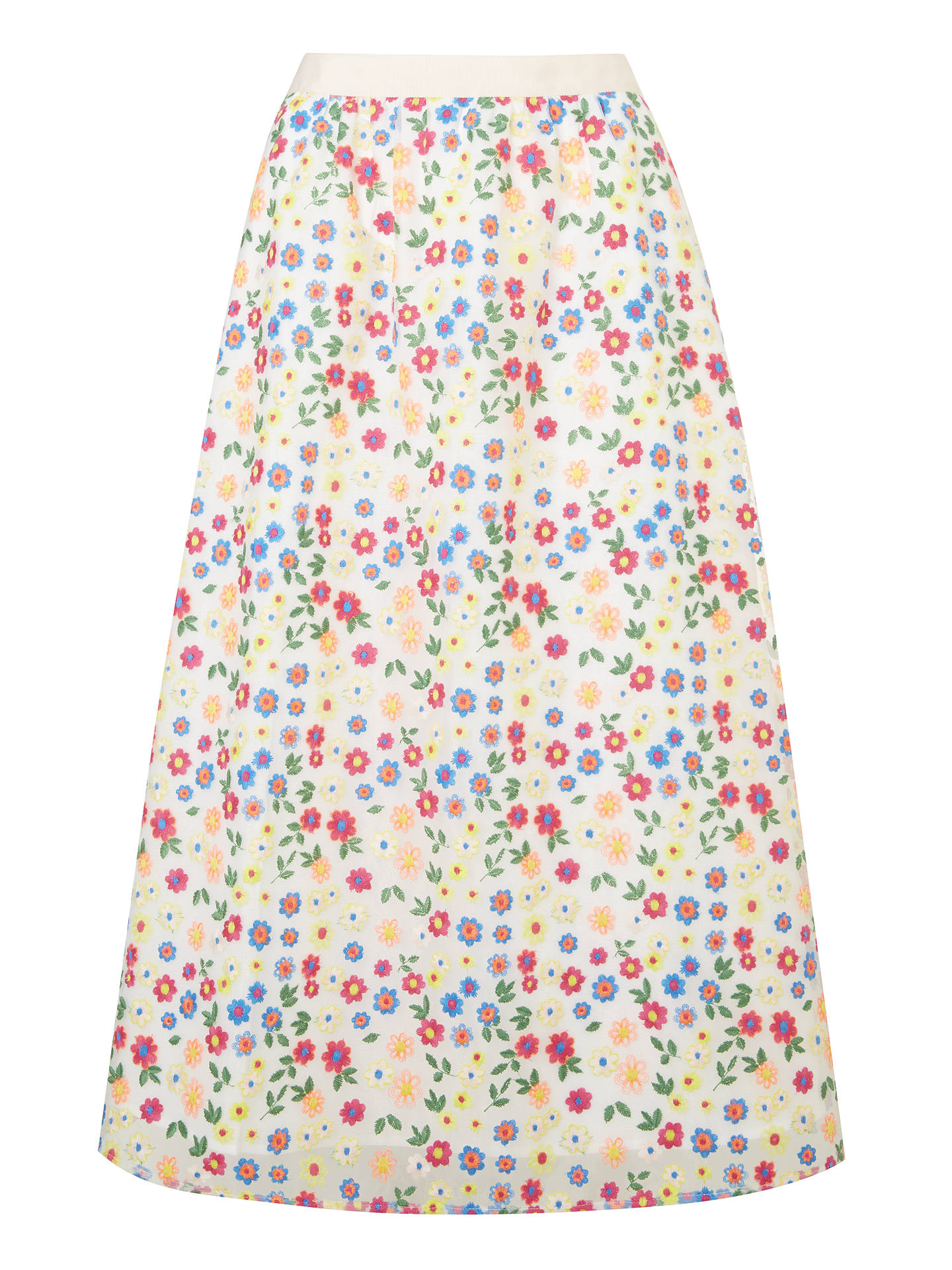 Buy Boden Marjorie Organza Floral Print Skirt, Red Pop, 8 Online at johnlewis.com