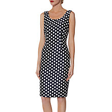 Buy Gina Bacconi Margot Jacquard Spot Dress, Navy/White Online at johnlewis.com