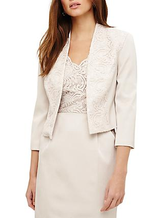 Phase Eight Trixie Lace Jacket, Neutral Pearl