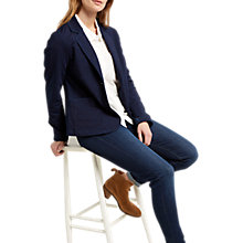 Buy White Stuff Brooklyn Breton Blazer, Navy Online at johnlewis.com