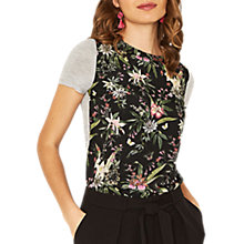 Buy Oasis Tula Print T-Shirt, Multi/Grey Online at johnlewis.com